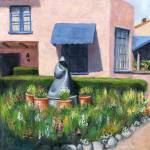 """Arizona Inn with Statue"" by ChichiMiller"