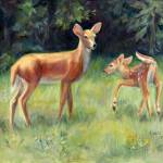 """Deer Playing"" by ChichiMiller"