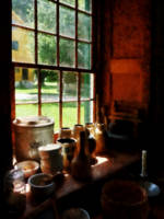 Clay Jars on Windowsill