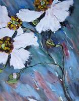Poppy Painting White Poppies Artwork Flower Art