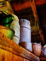 Baskets and Barrels in Attic