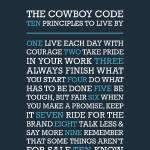 """Cowboy Code • Blues"" by Logophilia"