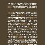 """Cowboy Code • Brown"" by Logophilia"