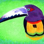 """Aracari III, original painting"" by LimeCreekArt"