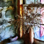 """Dried Flowers on Windowsill"" by susansartgallery"