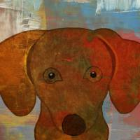 Dog - Woof-Woof in Oils Art Prints & Posters by Kerri Jones