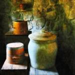 """Ginger Jars and Buckets"" by susansartgallery"