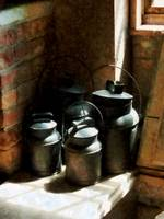 Metal Jugs by Window