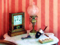 Stereopticon, Lamp and Clock