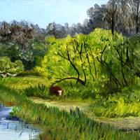 Grazing in the Marshes Art Prints & Posters by Maria Williams