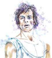 Nureyev Watercolor Portrait