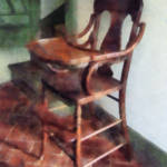 """Wooden High Chair"" by susansartgallery"