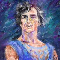 Nureyev Oil Portrait Art Prints & Posters by Cynthia Sorensen