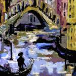 """""""Abstract Venice in Blue"""" by GinetteCallaway"""