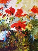 Abstract Expressive Red Poppies Provence