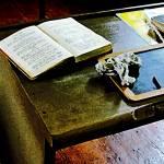 """Blackboard and Book"" by susansartgallery"