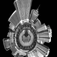 Cityscape of Richmond, Virginia architecture skyli by Alexandr Grichenko
