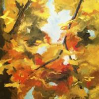 Fiery Autumn Art Prints & Posters by gloria benedetto