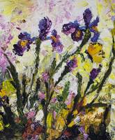 Impressionist Irises Butterflies and Bees