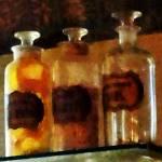 """Apothecary Bottles"" by susansartgallery"