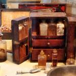 """Case With Medicine Bottles"" by susansartgallery"