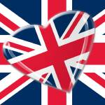 """Jaunty Heart Union Jack Flag"" by carolekeen"