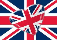 Jaunty Heart Union Jack Flag