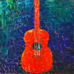 """Red Guitar"" by Rmbartstudio"