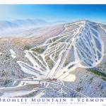"""Bromley Mountain"" by jamesniehuesmaps"