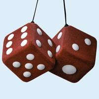 Lucky Fuzzy Red Dice