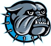 Bulldog Dog Head Mascot