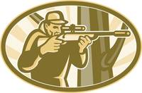 Hunter Shooter Aiming Telescope Rifle Retro