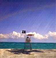Hollywood Lifeguard Stand with Shadow by Joe Gemignani