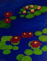 RED LILY POND MOSAIC