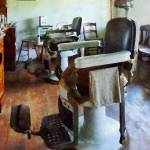 """Barber - Two Barber Chairs"" by susansartgallery"