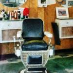 """Barber Chair Front View"" by susansartgallery"