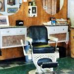 """Barber Shop One Chair"" by susansartgallery"