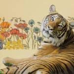 """""""The Tiger and the Maddening Caravan of Flowers"""" by KarenStrumLLC"""