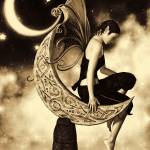 """Moon Fairy Sepia"" by AlexButler"