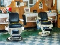 Barber - Corner Barber Shop Two Chairs