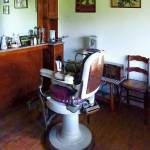 """Barber - Old-Fashioned Barber Chair"" by susansartgallery"