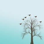 """Winter Tree with Birds"" by jow"