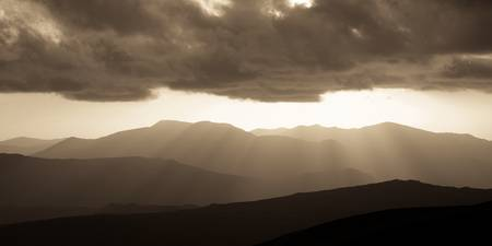 Cumbrian Mountains Sunburst