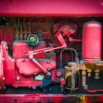 """Tractor Engine in Red"" by dbwalton"