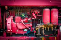 Tractor Engine in Red