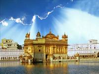 Golden Temple Shining Clouds