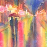 Rainy Night in New Orleans Art Prints & Posters by Yevgenia Watts