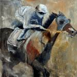 """horse and jockey"" by pol"