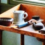 """Barber - Shaving Mug Razor and Brushes"" by susansartgallery"