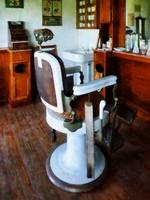 Barber Chair and Cash Register